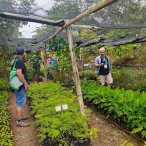 森林保全のために様々な種類の植樹用の苗を栽培している。