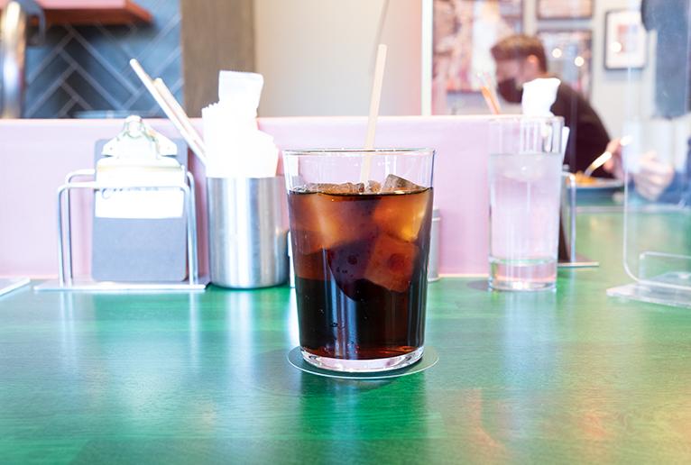 「水出しコーヒー」390円。