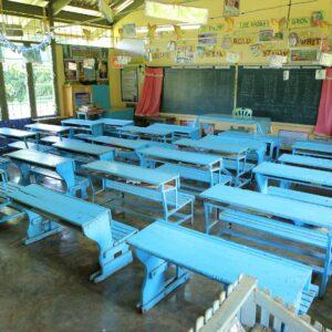 寄付をしている近隣の小学校。
