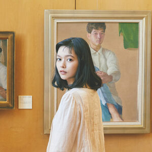永井潔アトリエ館の『92年の自画像』へ。「手紙」編。