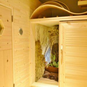 女性サウナにある「内気浴」。
