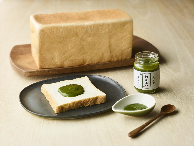 高級食パン専門店〈銀座に志かわ〉と日本料理の名店〈くろぎ〉が作った、食パンのための「抹茶みつ」。