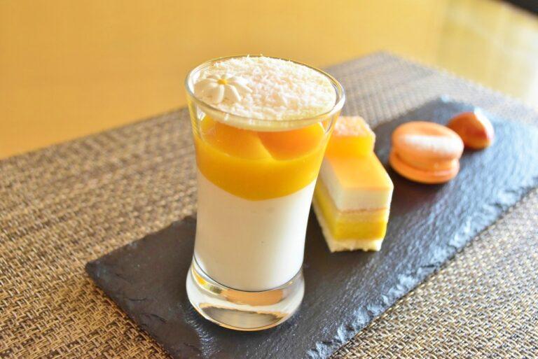 マンゴー杏仁豆腐。