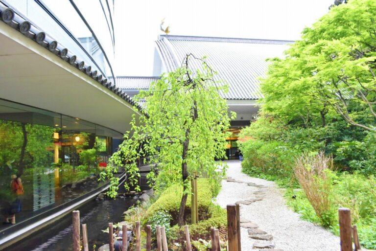 日本の美しい四季が楽しめる庭園。