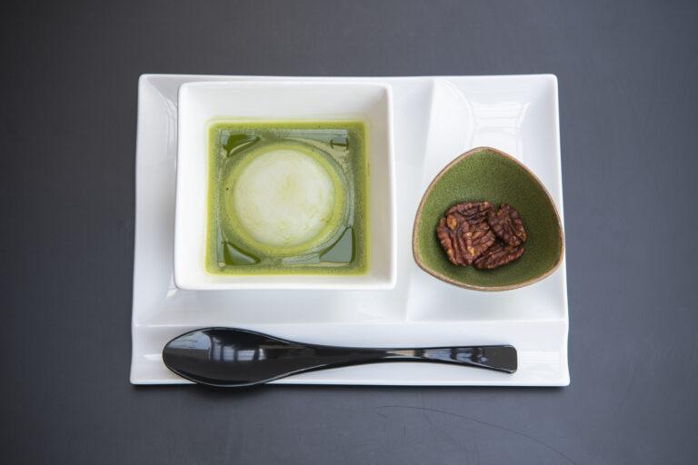 「お抹茶のおしるこセット」1,250円。