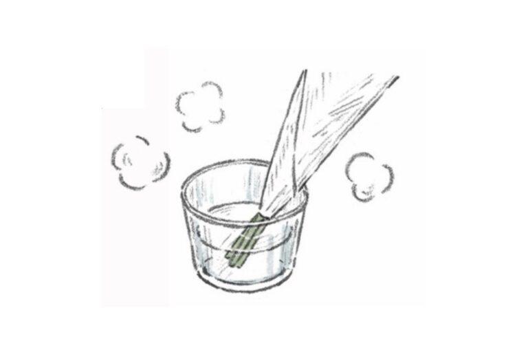 湯揚げの仕方。