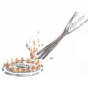 焼揚げの仕方。