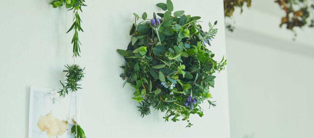 おうち時間にチャレンジ!季節の香りを楽しめる『ハーブリース』の作り方。