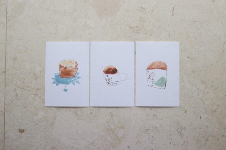 縮小印刷してポストカードに。
