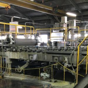「kome-kami」の加工・印刷を担う機械。