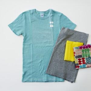色あせたTシャツや色味のある端切れを使って!