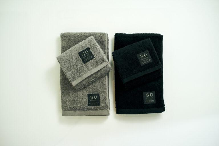 「Su」ブラック / グレー   バスタオル1枚 / フェイスタオル2枚 4,400円