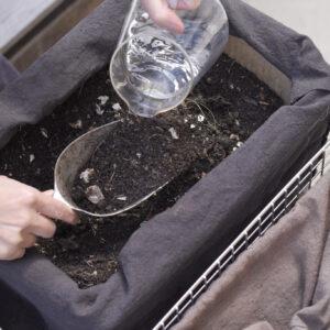 2.空気を含ませ、適度な水分を保つのが大事。