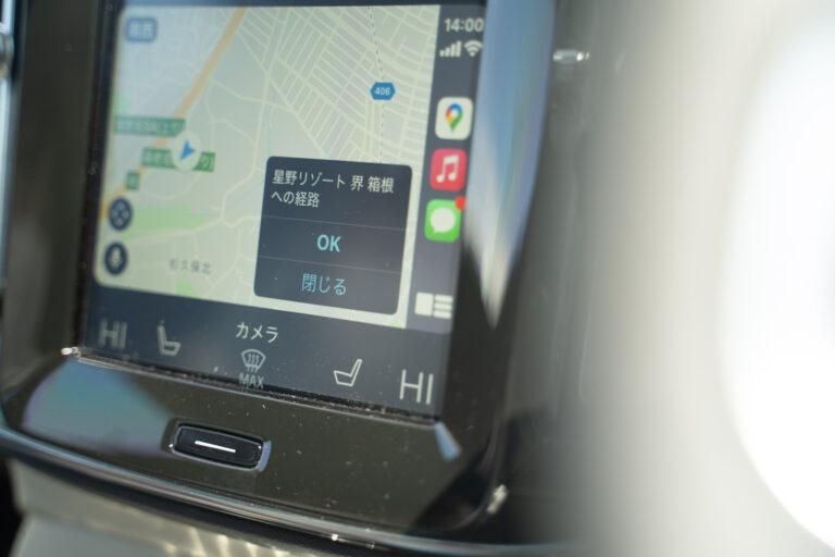 スマートフォンと接続すると、タッチスクリーンでスマホを触るのと同じ感覚でマップの操作ができるので、ナビの操作に慣れない人でも安心です。