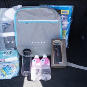 アクセサリとして購入できる防災用バッグは、被災時にも快適に過ごせる21種類のアイテム。見た目もスタイリッシュで欲しくなる・・・!