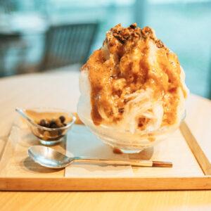「かき氷 屋久島紅茶のミルク紅茶」1,400円。