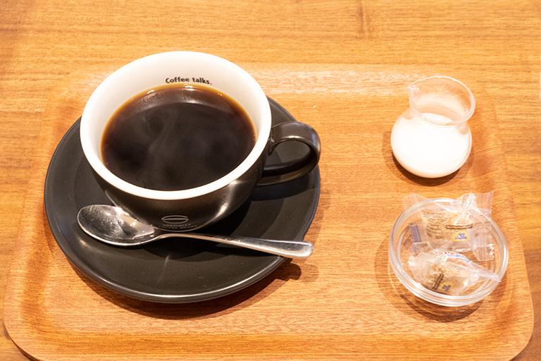 「炭火珈琲」530円。