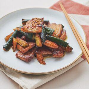 豚肉とズッキーニの回鍋肉(ホイコーロー)