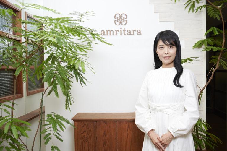 〈アムリターラ〉代表の勝田小百合さん。