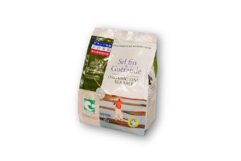 フランスのブルターニュ産のミネラル豊富な塩。ゲランドの塩(セル ファン袋)500g 606円(カルディ コーヒーファーム)