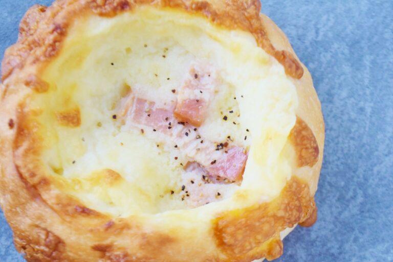 じゃがいものホックリとした食感とベーコンやチーズの風味がマッチ。