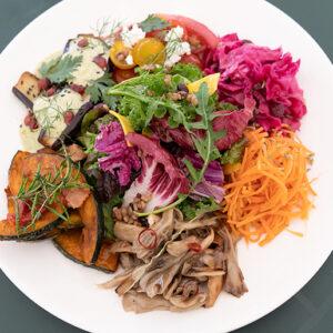 カラフルで野菜がたっぷりの前菜。