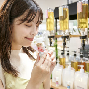 香りは5種類。一番人気のメリーホワイトのほか、フレッシュシトラス、ピュアスイート、グロッシーローズ、ヒーリングハーブ。