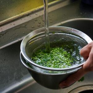 【POINT】かさばらずに1回で洗える。