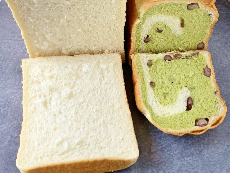 金谷のパンの代表格「ロイヤルブレッド」 、百貨店の催事や一部通販でしか購入できない「抹茶大納言」 。