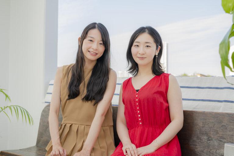 左から花井悠希さん、藤田華子さん。