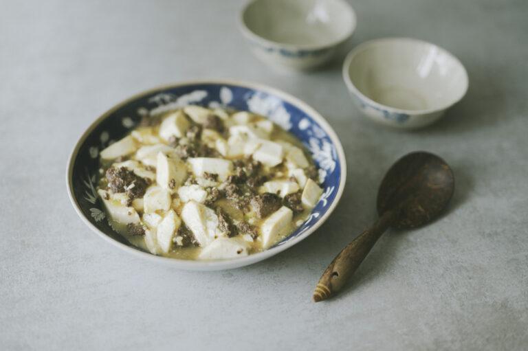 シカ肉の麻婆豆腐