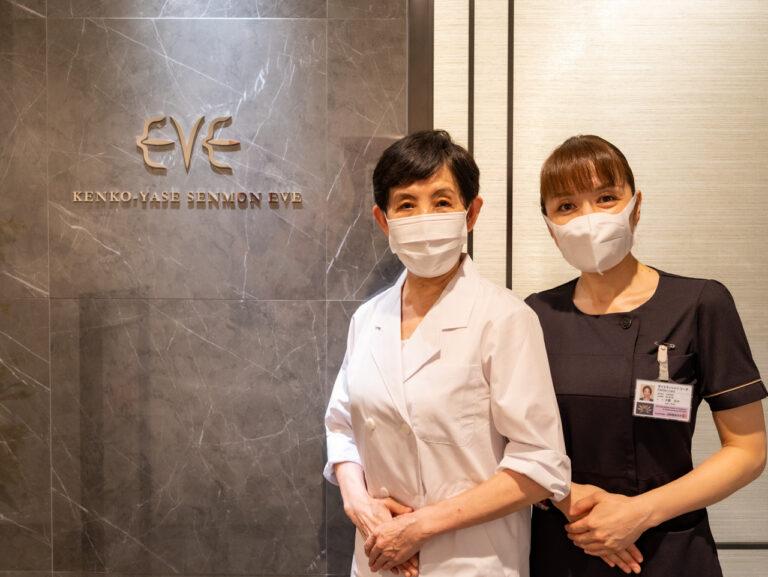 (左)東洋医学を学び技術開発にも携わる 申先生(右)豊洲教室の店長 大熊先生。