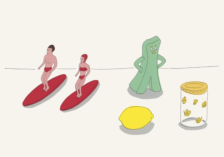 《サーフィン》 2006年 illustrated by Mizumaru Anzai © Masumi Kishida