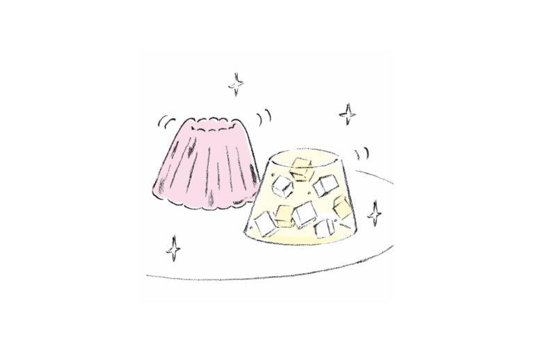 常温で固まるので、お茶を使っても濁らない。美スイーツ界の注目素材!(藤森陽子)
