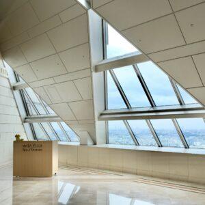 49階に位置する〈ランドマークスパ〉のエントランス。