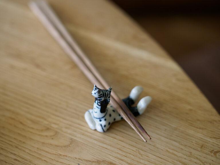 マキさんの愛猫はっとりくんの箸置き。