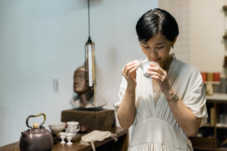「香りを楽しむことも台湾茶の喜び」
