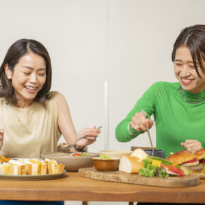「こんなに豪華な料理が食べられて、お家じゃないみたい!」(石井さん)