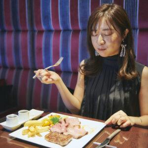 「こんなに分厚くてやわらかいローストビーフを食べたのは初めて」(菅原さん)。