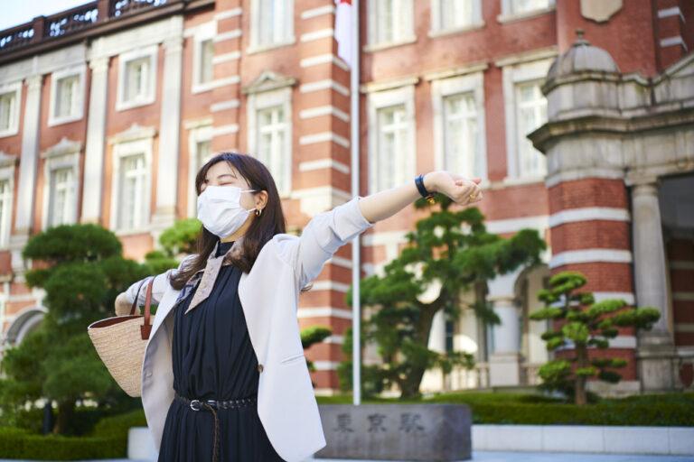 「駅前の広場に来ると東京!って感じがして、気合いが入るんです」(菅原さん)。