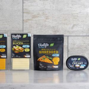 日本初上陸。プラントベースチーズ(植物性チーズ代替品)とプラントベースバター(植物性バター代替品)。