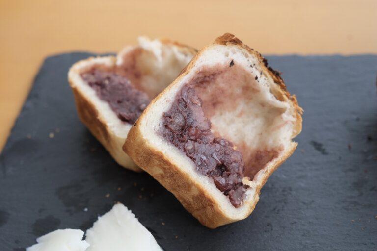 「北海道産小豆を使った自家炊きあんこパン」。