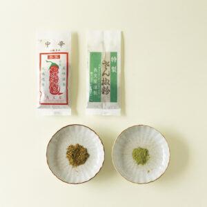 〈長文屋(ちょうぶんや)〉の七味(中辛・山椒多め)、山椒