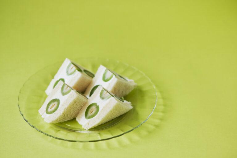 福島県産若桃のフルーツサンド