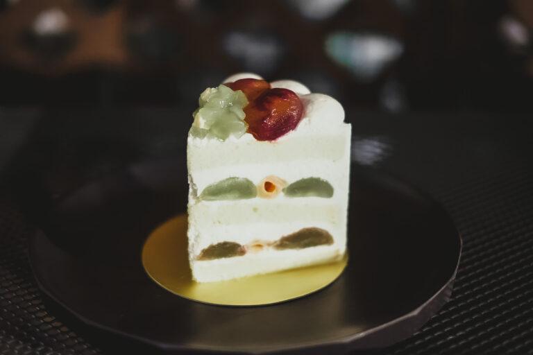 新エクストラスーパーグレープショートケーキ。