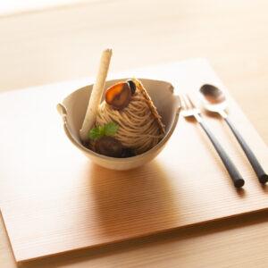 上品な味わいで余韻を残す「ODAGAKI モンブラン」1,200円。