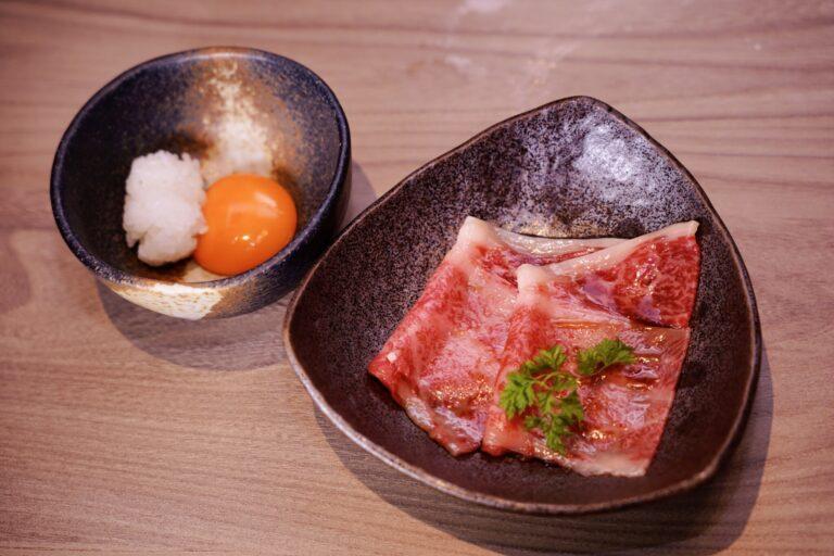 「焼きすき〜卵とタレで食べるすき焼き風〜」。