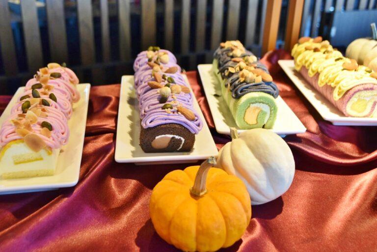 ロールケーキは4種類から選べる。もちろん全部食べてもOK!