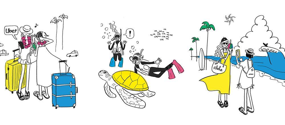 ハワイでのネット、どうする?ドコモのパケットパック海外オプションで、気軽で便利なハワイ旅へ。