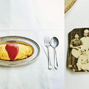 泛黃的照片敘述著70年來傳承下來的待客精神與笑容,銀座蛋包飯—〈法國料理 蜂之子〉-Hanako Taiwan